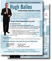 Hugh Ballou Speaker One Sheet